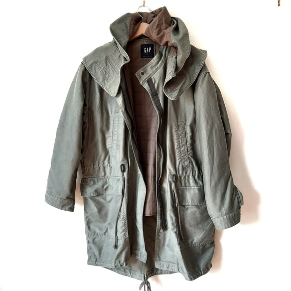 GAP Other - GAP Parka Winter Military Army Green Hooded Jacket
